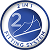 2-in-1 Fitting System for wide fit shoes