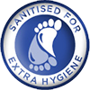 Sanitised for Extra Hygiene