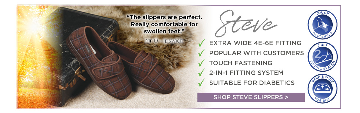 Men's Extra Wide Slippers