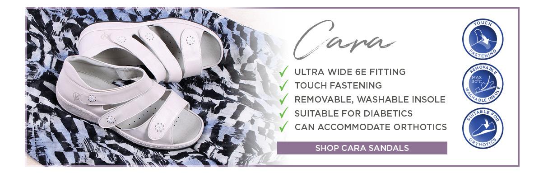 Cara Ladies Ultra Wide Sandals