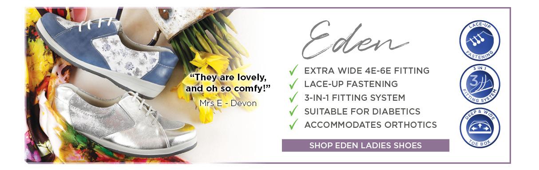 Eden Ladies Extra Wide Shoes