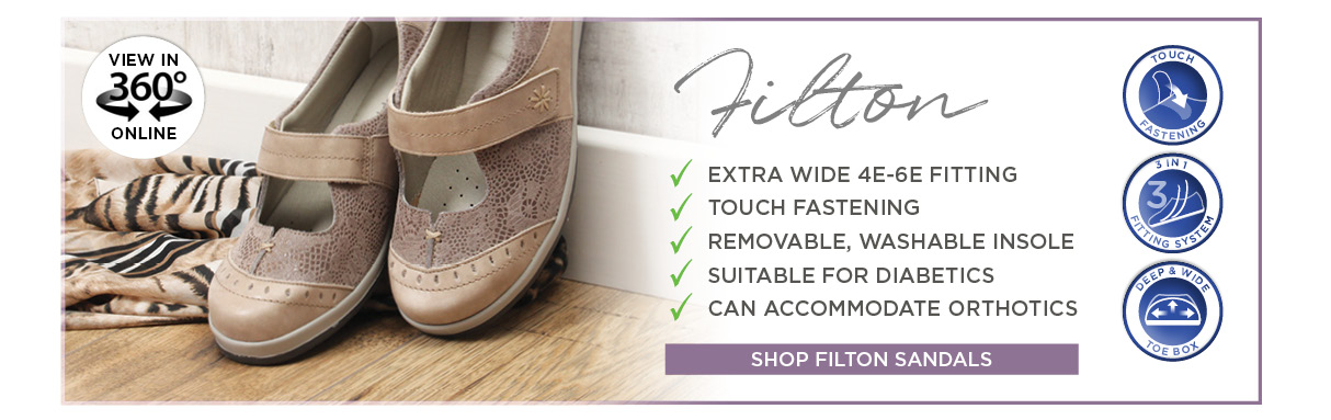 Filton Ladies Extra Wide Shoes