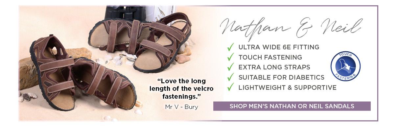 Nathan & Neil Men's Ultra Wide Sandals
