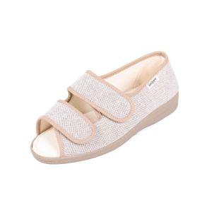 Dora Ladies Ultra Wide Canvas Sandal