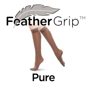 FeatherGrip Extra Wide Knee-High Pure