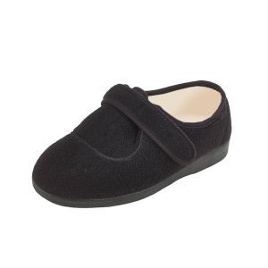 Sarah Ladies Extra Wide Bellows Slipper