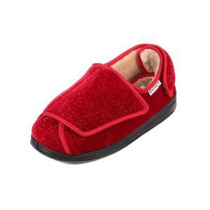 Wyn Ladies Extra Wide Open-Flat Slipper